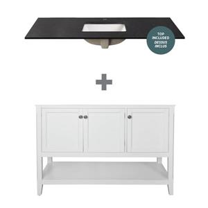 """Foremost Auguste Vanity Combo - 49"""" - White"""