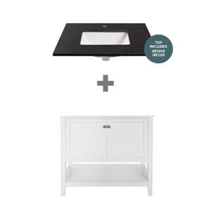 """Foremost Auguste Vanity Combo - 31"""" x 34.75"""" - White"""