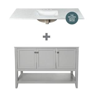 "Foremost Auguste Vanity Combo - 49"" x 34.75"" - Gray"