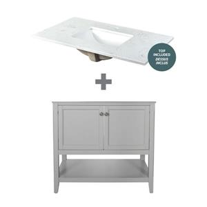 """Foremost Auguste Vanity Combo - 37"""" x 34.75"""" - Gray"""