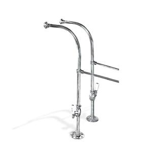 Foremost Chrome Over the Tub Supply Lines, Decorative Shut-offs