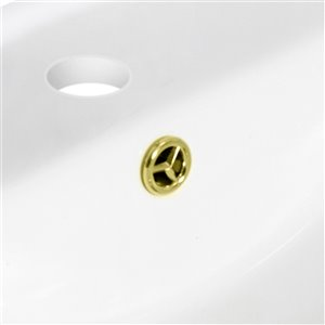 "American Imaginations Overflow Cap - 1.25"" - Brass - Gold"