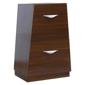"American Imaginations Vee Modular Drawer - 19.5"" x 30.5"" - Wood - Brown"