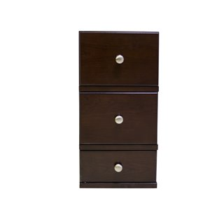 "American Imaginations Juliet Modular Drawer - 12.5"" x 23.75"" - Wood - Brown"
