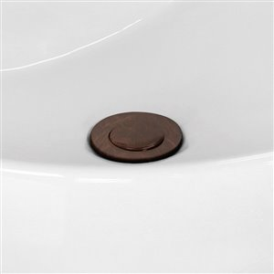 "American Imaginations Sink Drain - 2.6"" - Brass - Bronze"