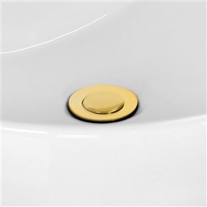 "American Imaginations Sink Drain - 2.6"" - Brass - Gold"