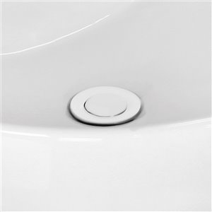 "American Imaginations Sink Drain - 2.6"" - Brass - White"