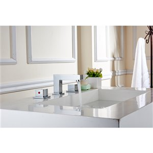 """American Imaginations Faucet Set - Widespread - 2.6"""" - Brass - Chrome"""
