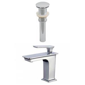 "American Imaginations Faucet Set - Single hole - 4.1"" - Brass - Chrome"