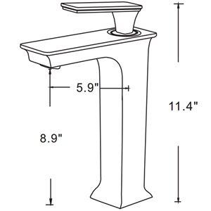 "American Imaginations Faucet Set - Single hole - 8.9"" - Chrome"