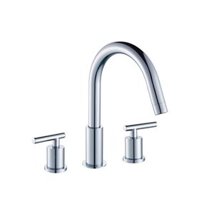 "American Imaginations Faucet Set - Widespread - 9.44"" - Brass - Chrome"