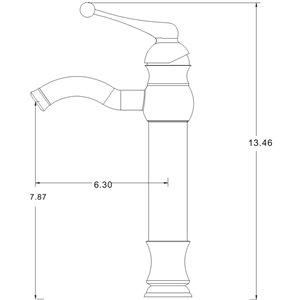 "American Imaginations Faucet Set - Single hole - 7.87"" - Chrome"