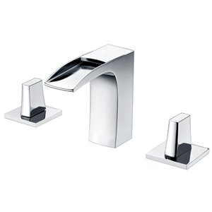 """American Imaginations Faucet Set - Widespread - 4.68"""" - Brass - Chrome"""