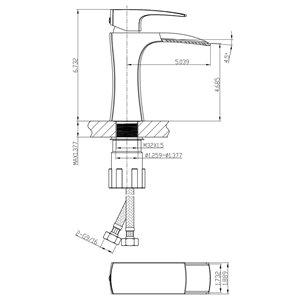 "American Imaginations Faucet Set - Single hole - 4.68"" - Brass - Chrome"