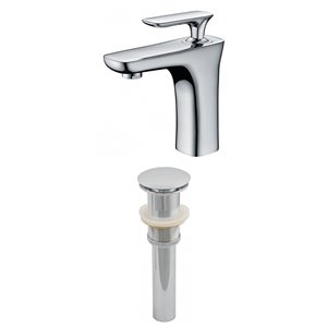 "American Imaginations Faucet Set - Single hole - 4.62"" - Brass - Chrome"