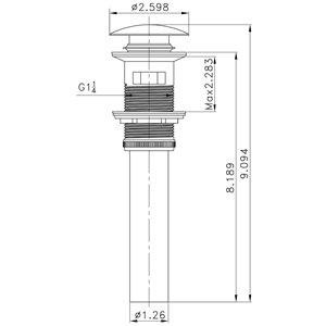 "American Imaginations Faucet Set - Single hole - 4.62"" - Chrome"