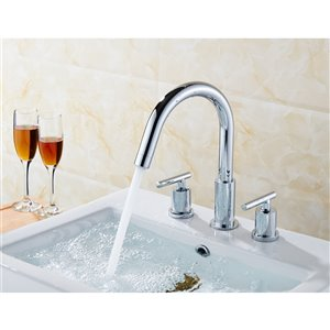 """American Imaginations Swan Faucet - Widespread - 9.44"""" - Chrome"""