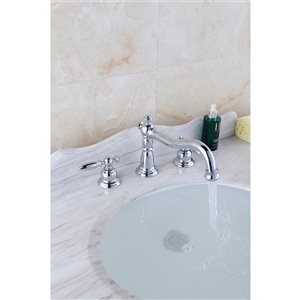 """American Imaginations Cheer Faucet - Widespread - 3.54"""" - Chrome"""
