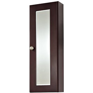 "American Imaginations Tiffany Medicine Cabinet - 12"" - Wood - Coffee"