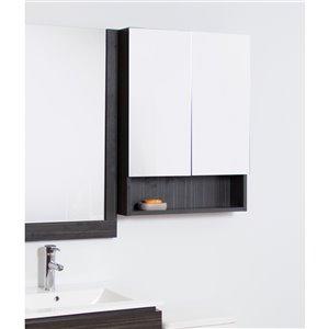 "American Imaginations Xena Medicine Cabinet - 23.5"" x 31"" - Wood - Gray"