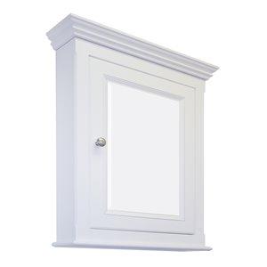 "American Imaginations Perri Medicine Cabinet - 24"" x 30"" - Wood - White"