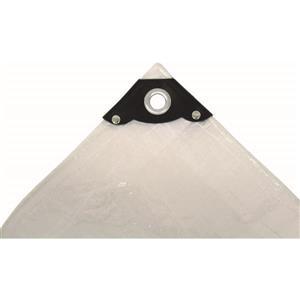 Toolway Tarpaulin - 40-ft x 60-ft - Polyethylene - Clear