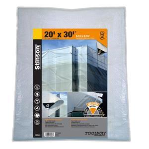 Toolway Tarpaulin - 20-ft x 30-ft - Polyethylene - Clear