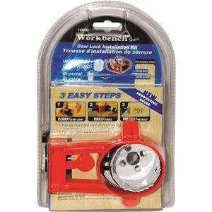 Toolway Door Lock Installation Kit - Metal - Chrome