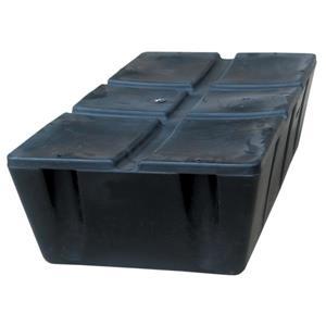 """Dock Edge + Titan Foamed Dock Float - 12"""" - Black"""