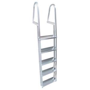 "Dock Edge + Dock Ladder - 5 Steps - 42"" - Aluminum - Gray"