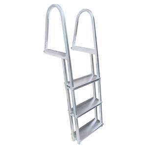 """Dock Edge + Dock Ladder - 3 Steps - 37"""" - Aluminum - Gray"""