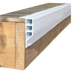 Dock Edge + Hybrid Dock Chain Retainer - Aluminum - 24' - White