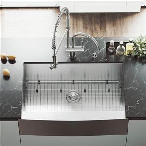 VIGO Kitchen Sink With Faucet - Grid - Strainer - 33-in