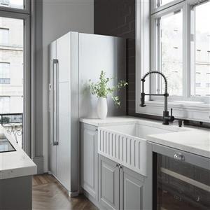 VIGO Matte Stone Farmhouse Kitchen Sink - 30-in