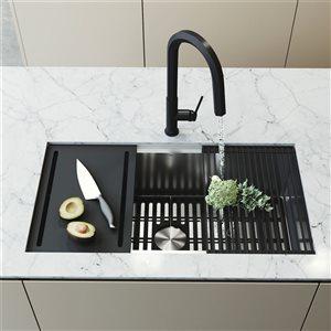 VIGO Kitchen Sink - With Grid And Strainer - 32-in