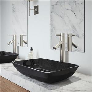 Vigo Glass Vessel Bathroom Sink with Vessel Faucet