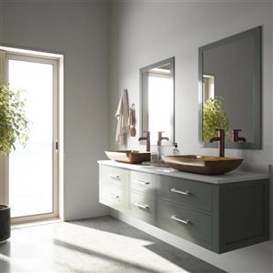 VIGO Glass Vessel Bathroom Sink - Copper