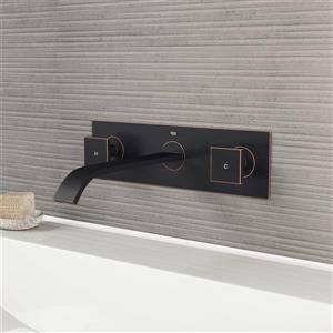 Vigo Titus Wall Mount Bathroom Faucet With Pop-Up