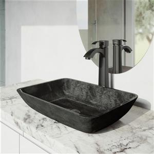 Vigo Otis Vessel Bathroom Faucet In Matte Black