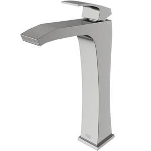 Vigo Blackstonian Vessel Bathroom Faucet In Brushed Nickel