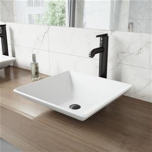 Vigo Seville Vessel Bathroom Faucet In Matte Black