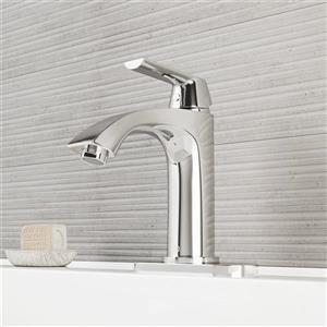 Vigo Penela Single Hole Bathroom Faucet With Deck Plate - Chrome