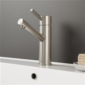 Vigo Nora Single Hole Bathroom Faucet - Brushed Nickel