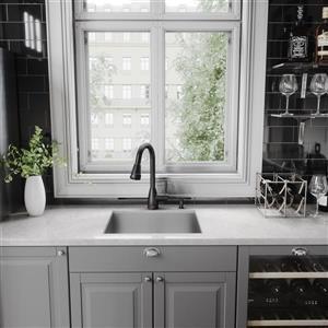 VIGO Graham Pull-Down Spray Kitchen Faucet In Matte Black