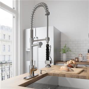 VIGO Zurich Pull-Down Spray Kitchen Faucet With Deck Plate