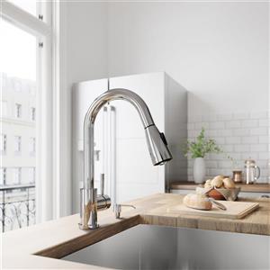 VIGO Weston Pull-Down Spray Kitchen Faucet In Chrome