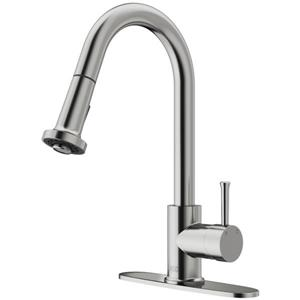 Vigo Harrison Pull-Down Spray Kitchen Faucet With Deck Plate