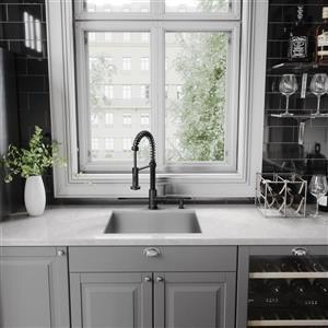 VIGO Edison Pull-Down Spray Kitchen Faucet In Matte Black