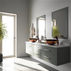 Vigo Glass Vessel Bathroom Sink - Auburn - Moka