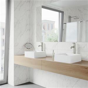 Vigo Vessel Bathroom Sink - White